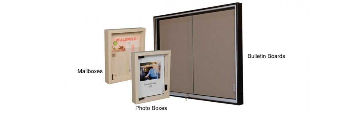 Bulletin Board, Mail and Photo Display Boxes