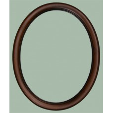 100 Series Two Tone Walnut 11x14 Oval Frame-Frames-Custom Framing Designs