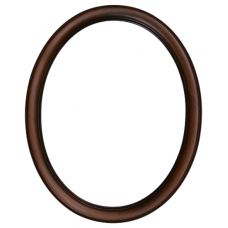 100 Series Two Tone Walnut 8x10 Oval Frame-Frames-Custom Framing Designs