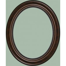 150 Series Walnut 11x14 Oval Frame-Frames-Custom Framing Designs