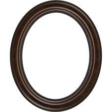 150 Series Walnut 8x10 Oval Frame-Frames-Custom Framing Designs