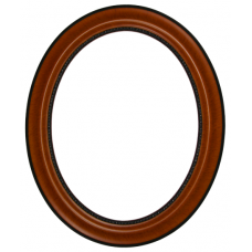 170 Series Teak 11x14 Oval Frame-Frames-Custom Framing Designs