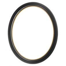 300 Series Black with Gold Lip 11x14 Oval Frame-Frames-Custom Framing Designs