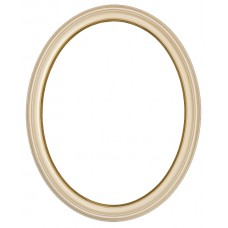 300 Series Ivory with Gold Lip 11x14 Oval Frame-Frames-Custom Framing Designs