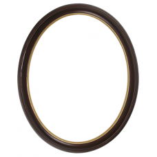 300 Series Mahogany with Gold Lip 11x14 Oval Frame-Frames-Custom Framing Designs