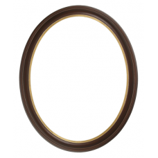 300 Series Walnut with Gold Lip 11x14 Oval Frame-Frames-Custom Framing Designs