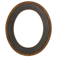498 Series Aged Black 11x14 Oval Frame-Frames-Custom Framing Designs