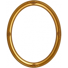 500 Series Gold with Ornaments 11x14 Oval Frame-Frames-Custom Framing Designs