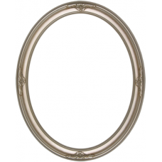 520 Series Silver with Ornaments 11x14 Oval Frame-Frames-Custom Framing Designs