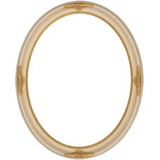 570 Series Ivory with Ornaments 11x14 Oval Frame-Frames-Custom Framing Designs