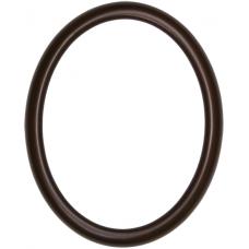 582 Series Walnut 11x14 Oval Frame-Frames-Custom Framing Designs