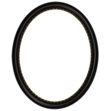650 Series Black with Gold Bead 11x14 Oval Frame-Frames-Custom Framing Designs