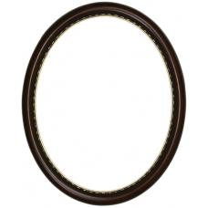 650 Series Walnut with Gold Bead 11x14 Oval Frame-Frames-Custom Framing Designs