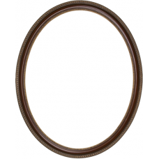 740 Series Walnut with Bead and Rope 8x10 Oval Frame-Frames-Custom Framing Designs