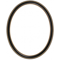 760 Series Black with Bead and Rope 8x10 Oval Frame-Frames-Custom Framing Designs