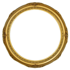 "Classic Series 14 Antique Gold 14"" Round Frame-Frames-Custom Framing Designs"