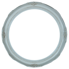 "Classic Series 14 Antique White 14"" Round Frame-Frames-Custom Framing Designs"