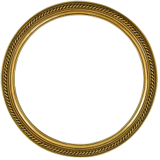 "Classic Series 15 Antique Gold 14"" Round Frame-Frames-Custom Framing Designs"