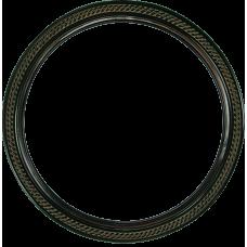 "Classic Series 15 Rosewood 14"" Round Frame-Frames-Custom Framing Designs"