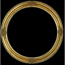 """Classic Series 17 Antique Gold 14"""" Round Frame-Frames-Custom Framing Designs"""