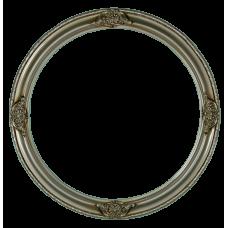 """Classic Series 17 Antique Silver 14"""" Round Frame-Frames-Custom Framing Designs"""