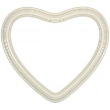 "Heirloom Ivory 8"" Heart Frame-Frames-Custom Framing Designs"