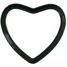 "Heirloom Black 14"" Heart Frame-Frames-Custom Framing Designs"