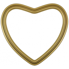 "Heirloom Gold 14"" Heart Frame-Frames-Custom Display Designs"