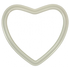 "Heirloom Ivory 14"" Heart Frame-Frames-Custom Framing Designs"