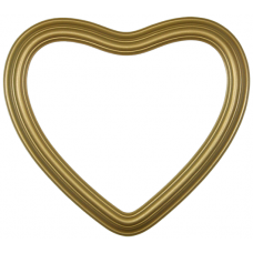 "Heirloom Gold 8"" Heart Frame-Frames-Custom Framing Designs"