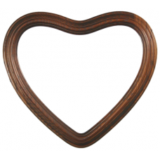 "Heirloom Mahogany 8"" Heart Frame-Frames-Custom Framing Designs"