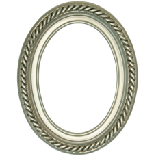 Classics Series 15 Silver 5x7 Oval Frame-Frames-Custom Framing Designs