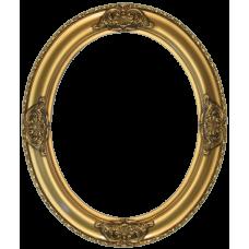 Classics Series 17 Antique Gold 8x10 Oval Frame-Frames-Custom Framing Designs