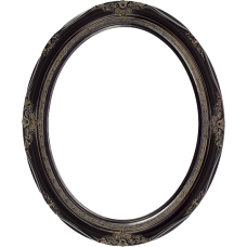 Classic Series 14 Rosewood 20x24 Oval Frame-Frames-Custom Framing Designs