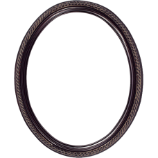 Classic Series 15 Rosewood 11x14 Oval Frame-Frames-Custom Framing Designs