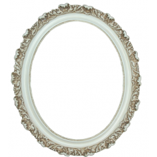 Classic Series 18 Antique White 11x14 Oval Frame-Frames-Custom Framing Designs
