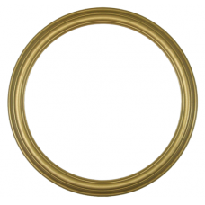 "Heirloom Gold 12"" Round Frame-Frames-Custom Framing Designs"