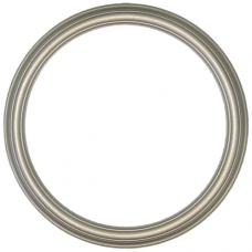 "Heirloom Silver 12"" Round Frame-Frames-Custom Framing Designs"