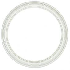 """Heirloom Country White 12"""" Round Frame-Frames-Custom Framing Designs"""