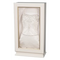 Ivory Wedding Dress Display - Wedding Gown Box - Deep Shadow Box - Custom Display Designs