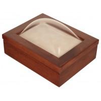 5x7 Keepsake Box w/ Cherry Stain - Keepsake Shadow Box - Deep Shadow Box - Custom Framing Designs, USA