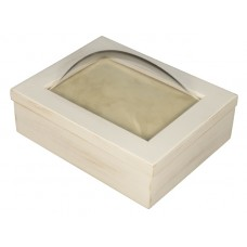 5x7 Keepsake Box w/ Rustic White Finish - Keepsake Shadow Box - Deep Shadow Box - Custom Framing Designs, USA