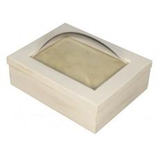 5x7 Keepsake Box w/ Rustic White Finish - Keepsake Shadow Box - Deep Shadow Box - Custom Framing Designs, USA