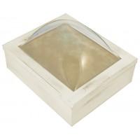 8x10 Keepsake Box w/ Rustic White Finish - Keepsake Shadow Box - Deep Shadow Box - Custom Framing Designs, USA