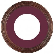 """12"""" Round Suede Mat-Frames"""