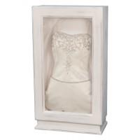 Rustic White Wedding Gown Box-Wedding Dress Display-Custom Framing Designs