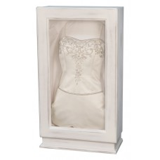 Rustic White Wedding Gown Box-Wedding Dress Display-Custom Framing Designs