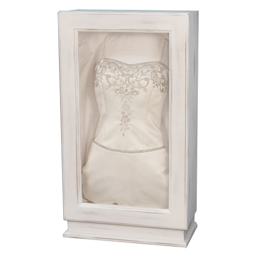 Rustic White Wedding Dress Box For Preserved Dress Display