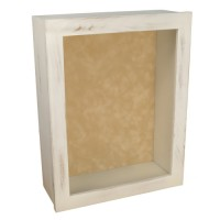 Shadow Box Frame - Rustic White Shadow Box - Shabby Chic Deep Shadow Box - Custom Framing Designs, USA