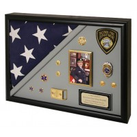 Shadow Box Frame - Memorial Shadow Box Holds Flag - Deep Shadow Box - Custom Framing Designs, USA